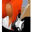 Guitarist Female Dark icon
