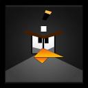 Black Angry Bird Frameless-128