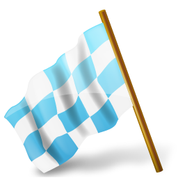 Map Marker Chequered Flag Left Azure