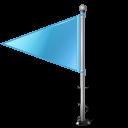 Map Marker Flag 1 Left Azure-128