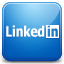 Linkedin blue icon