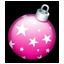 Christmas ball pink-64