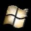 Windows Black and Gold Icon