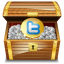 Twitter treasure Icon