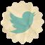 Retro Twitter icon
