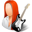 Guitarist Female Light Icon