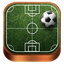 Soccer wooden icon
