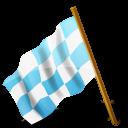 Map Marker Chequered Flag Left Azure-128