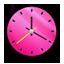 Clock Pink Icon