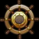 Nautilus Ship Steering Wheel