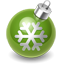 Xmas decoration green icon