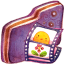 Video Violet Folder icon