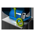 Mailbox Blocked Blue-128