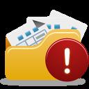 Open folder warning-128
