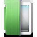 iPad 2 White green cover-128