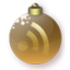 Feed Christmas Gold Icon