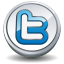 Twitter round button icon