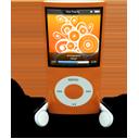 Orange iPod Nano-128