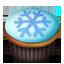 Cupcakes snowflake icon