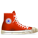 Converse Red dirty-128
