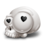 Skull Love Icon