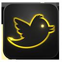 Twitter neon glow-128