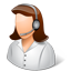 Tech Support Female Light Icon