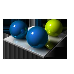 Blue Green Spheres