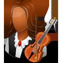 Musician Female Dark-128