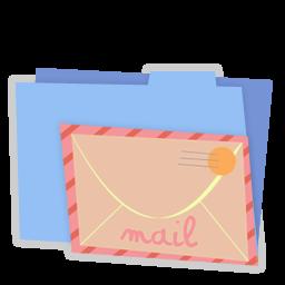 Blue folder mail