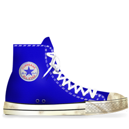 Converse Blue dirty