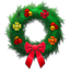 Holiday wreath festive Icon