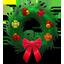 Holiday wreath festive icon