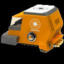 space racing car side orange