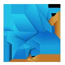 Origami Twitter Bird-128