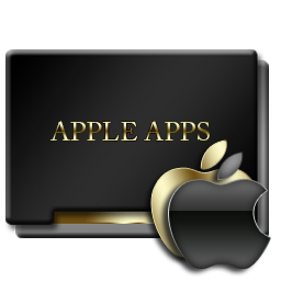 Apple Apps Black and Gold