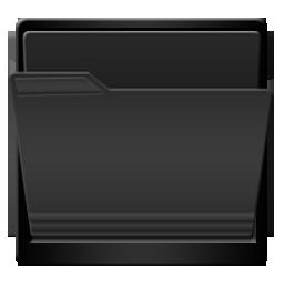 Black Open Folder