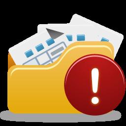 Open folder warning