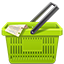 Green Shopping Basket icon