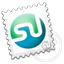Grey Stumbleupon stamp icon