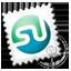 Grey Stumbleupon stamp icon