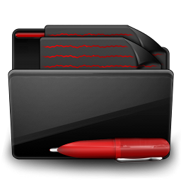 Folder Documents black red