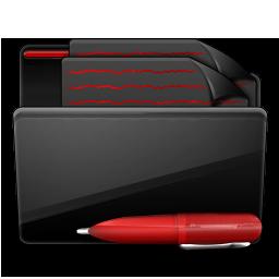 Folder Documents black red