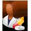 Pharmacist Female Dark icon