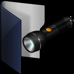Folder Blue Pocket Lamp