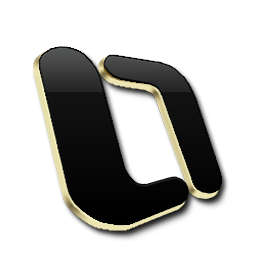 Microsoft OutLook Black and Gold