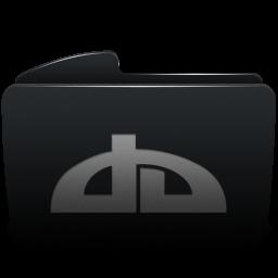 Folder Black Deviantart Icon Download Sabre Icons Iconspedia