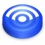 Rss blue circle icon