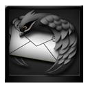 Black Mozilla Thunderbird-128
