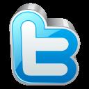 Twitter metal block-128